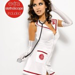Sexy kostým Emergency dress + stetoskop XXL – Obsessive