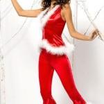 Vánoční kostým Santa Lady pants+vest – Obsessive