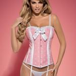Dámský korzet Dottie corset pink XXL