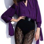 Punčochové kalhoty Knittex Purple Rain