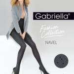 Hrubší dámské punčochové kalhoty se vzorem NAVEL