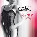 Bodystocking Gatta Red Rose 06