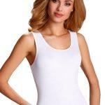 Bílá spodní košilka Clarissa s širokými ramínky