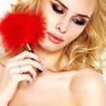 Erotické peříčko A0150 red