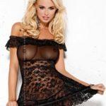Košilka Flores black XXL – Obsessive