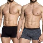 2pack pánských boxerek 34259 black-graphite