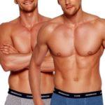 2pack pánských boxerek 35386 graphite-blue
