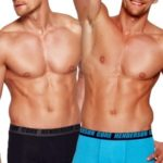 2pack pánských boxerek 35387 blue-black