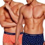 2pack pánských boxerek 35392 coral-blue