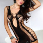 Erotické šaty Anshula black