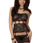 Erotické šaty Sibille black