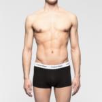 Boxerky 3 Pack Low Rise Trunks Cotton Stretch U2664G001 černá – Calvin Klein