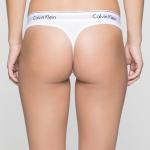 Tanga Thong Modern Cotton F3786E100 bílá – Calvin Klein